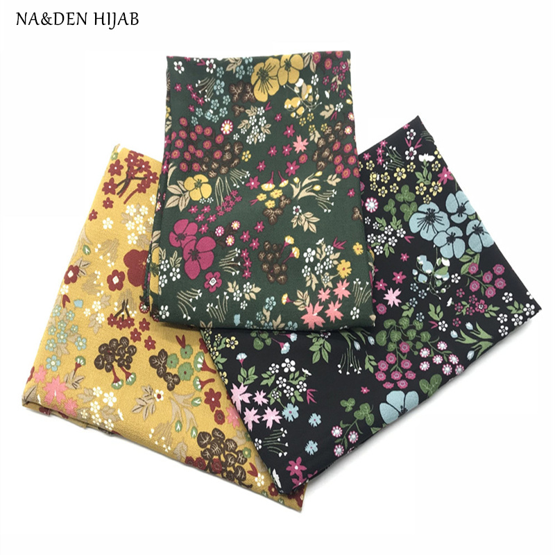 NEW bubble chiffon floral hijab scarf women muslim print hijabs fashion islamic scarves shawls brand soft muffler 10pcs/lot