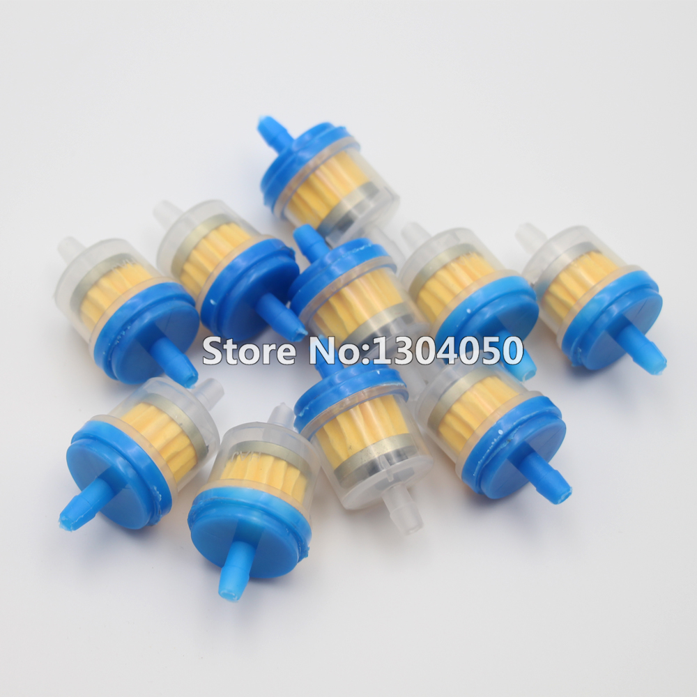 10PCS Universal Bike Motorcycle Scooter Gas Filters FUEL FILTE Magnetic Clear Fuel Filter FREE SHIPPING