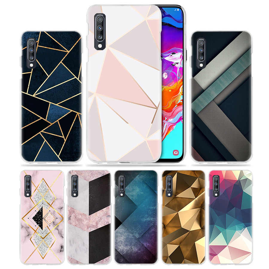 Geometric Shapes line Pattern Case for Samsung Galaxy M40 A50 A80 A70 A60 A40 A30 A20e A10 J4 J6 Plus J8 2018 Hard Phone Cover
