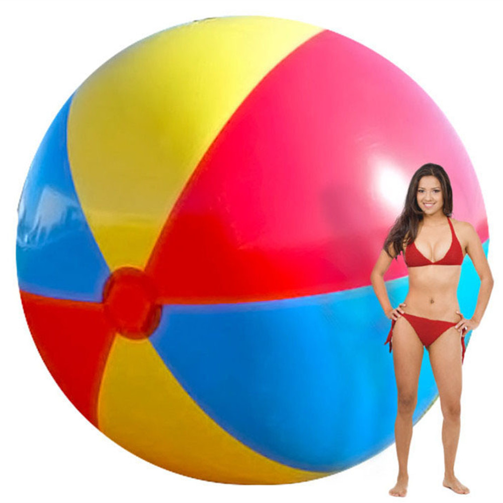 2M Giant Inflatable Colorful Beach Ball Inflated Swimming Pool Kids Toy Balls Outdoor Fun Hot Toys Children Birthday Party Favor kids dinosaur sand mold set beach toys summer beach hot toy children dinosaur fossil model outdoor fun toys birthday party favor