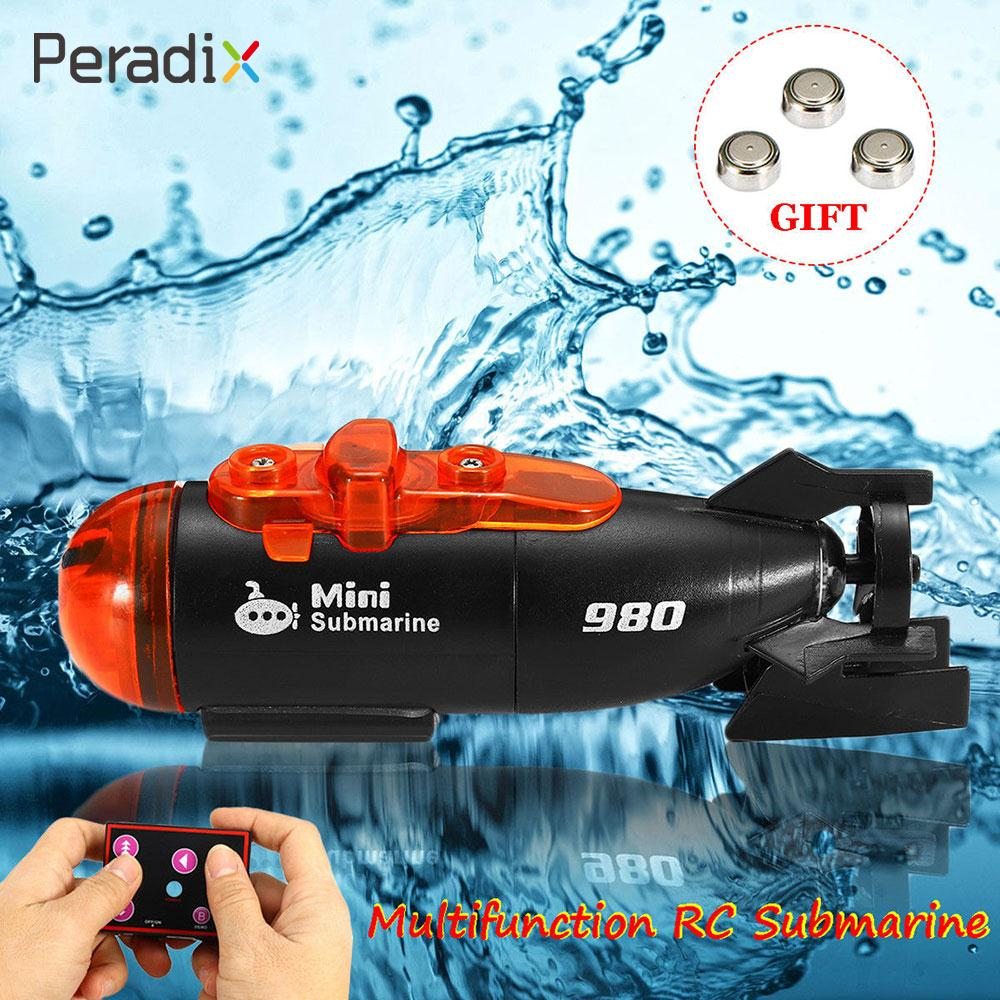 Ferngesteuertes U-boot Sinnvoll Outdoor Rc Boot Minitype Innovative Elektrische Spielzeug 4 Kanäle Kunststoff Geschenk 2 Modi Led Licht Schiff