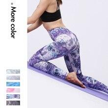 цены Sexy Women Yoga Pants Camo Print High Waist Sports Tights Female Sport Wear Fitness Gym Legging Push Up Training Workout Pants