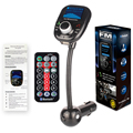 3 en 1 Transmisor FM Con Mando a distancia Reproductor de MP3 de Audio Del Coche aux + Manos Libres Bluetooth kit + 2A USB cargador de coche