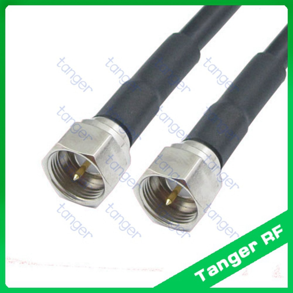Hot Selling Tanger F male plug to F male Plug connector straight RF RG58 Pigtail Jumper Coaxial Cable 3feet 100cm High Quality dvb t rf coaxial to mcx tv antenna connector black 22cm cable