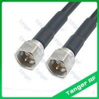 Venta caliente Tanger F macho A a F conector macho conector RF recta RG58 flexible Jumper Cable Coaxial de 3 pies 100 cm de alta calidad