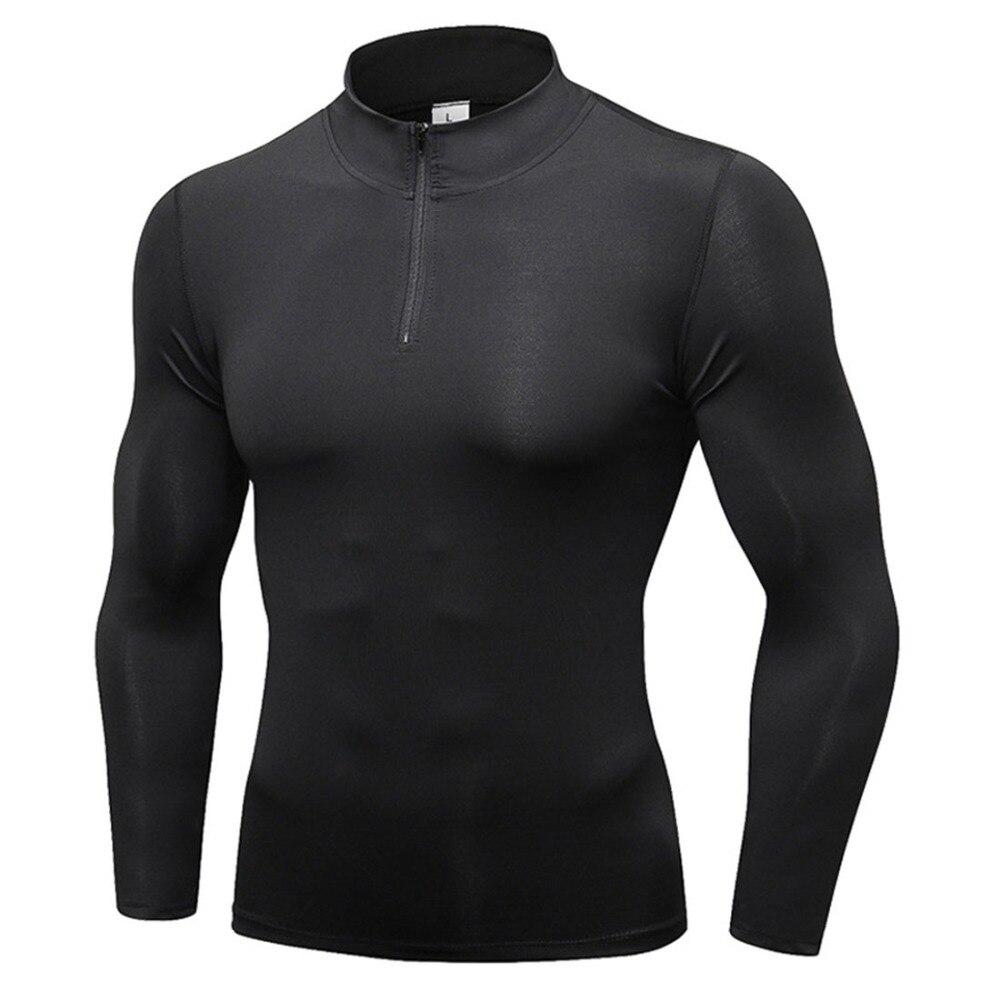 Men Long Sleeve Running T-Shirts Men Quick Dry Sport Shirt Autumn Winter Men Gym Shirt Jersey Clothing Fitness Sportswear