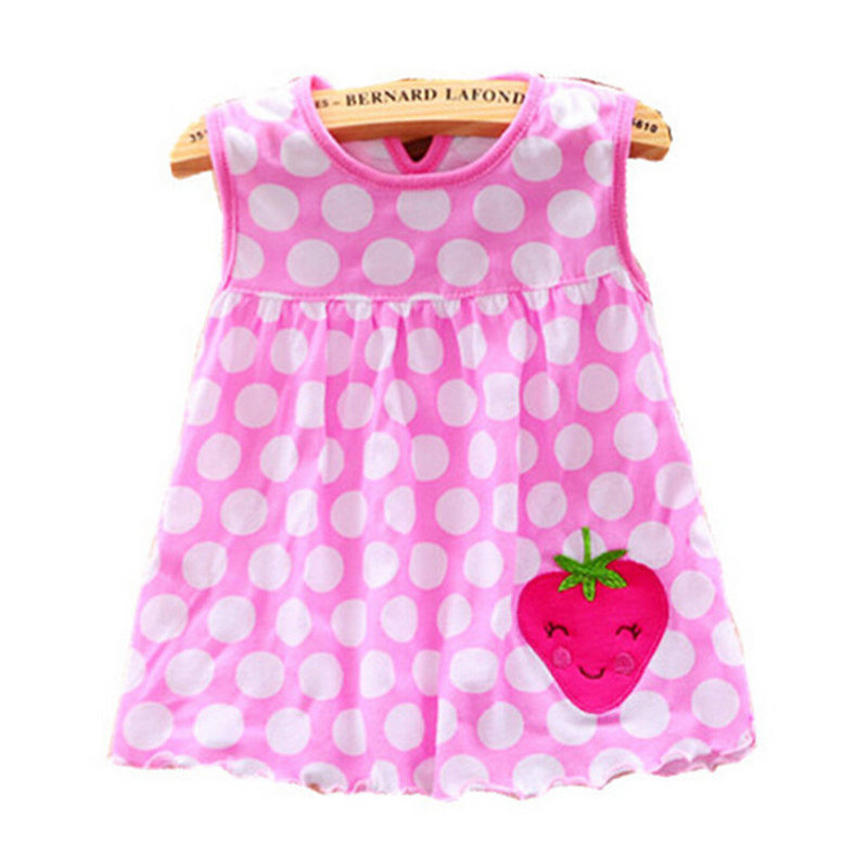 2019 Girls Clothing Summer Girl Dress Baby Girls Infant Kids Cartoon Floral Dress Clothes Sundress Casual Dresses 0-24 Months(China)