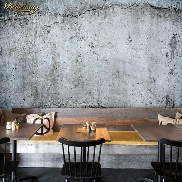 Beton Wandverkleidung shop beibehang stereo retro beton wandverkleidung cafe milch