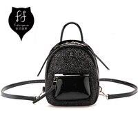 FULANPERS Kobiety Mini Brokat Plecak Kobiet Galanterii Skórzanej Torby Czarna Stylowy Plecak Plecaki Dziewczyny Torby Szkolne dla Nastolatków