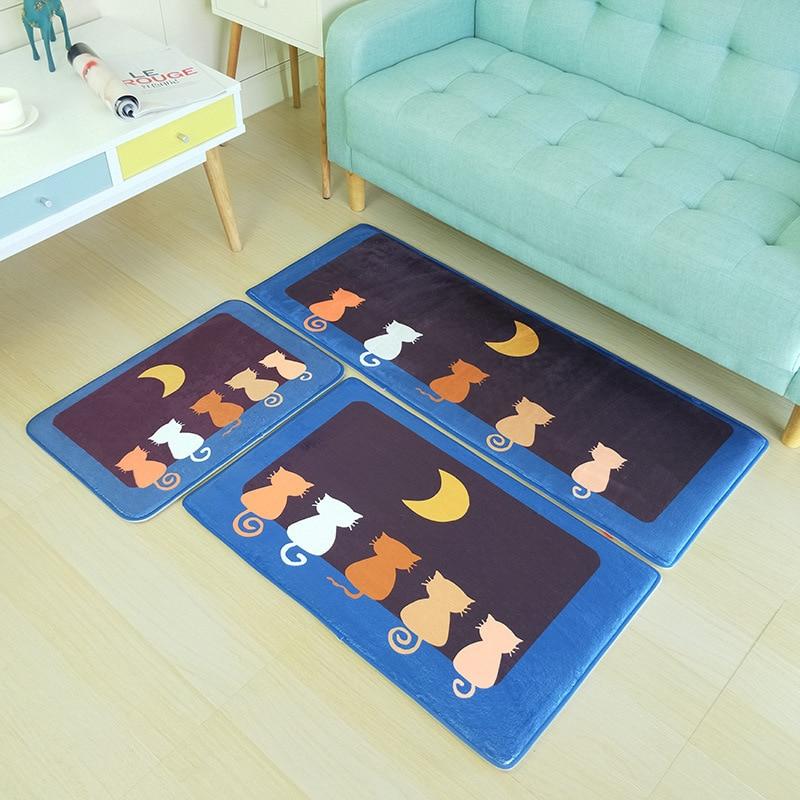 3pc Bathroom Carpet Bath Mat Anti slip Bedroom Kitchen Living Room Floor Pad Rug Soft Home Decor Doormat Feet Mat Cartoon Carpet