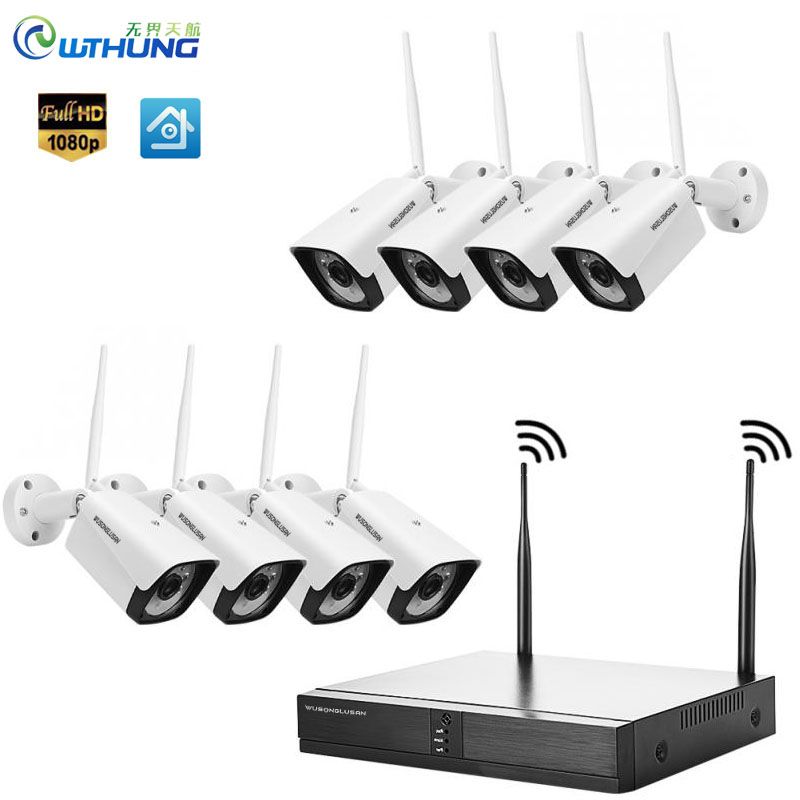 Only For Russia 8CH 1080P 720P Wifi Kit XMEYE Wireless IP Camera System P2P Motion Detection Outdoor Waterproof CCTV Security