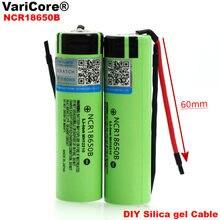 2 sztuk VariCore nowy oryginalny NCR18650B 3.7 v 3400mAh 18650 Li-ion akumulator spawanie krzemionka kabel żelowany DIY