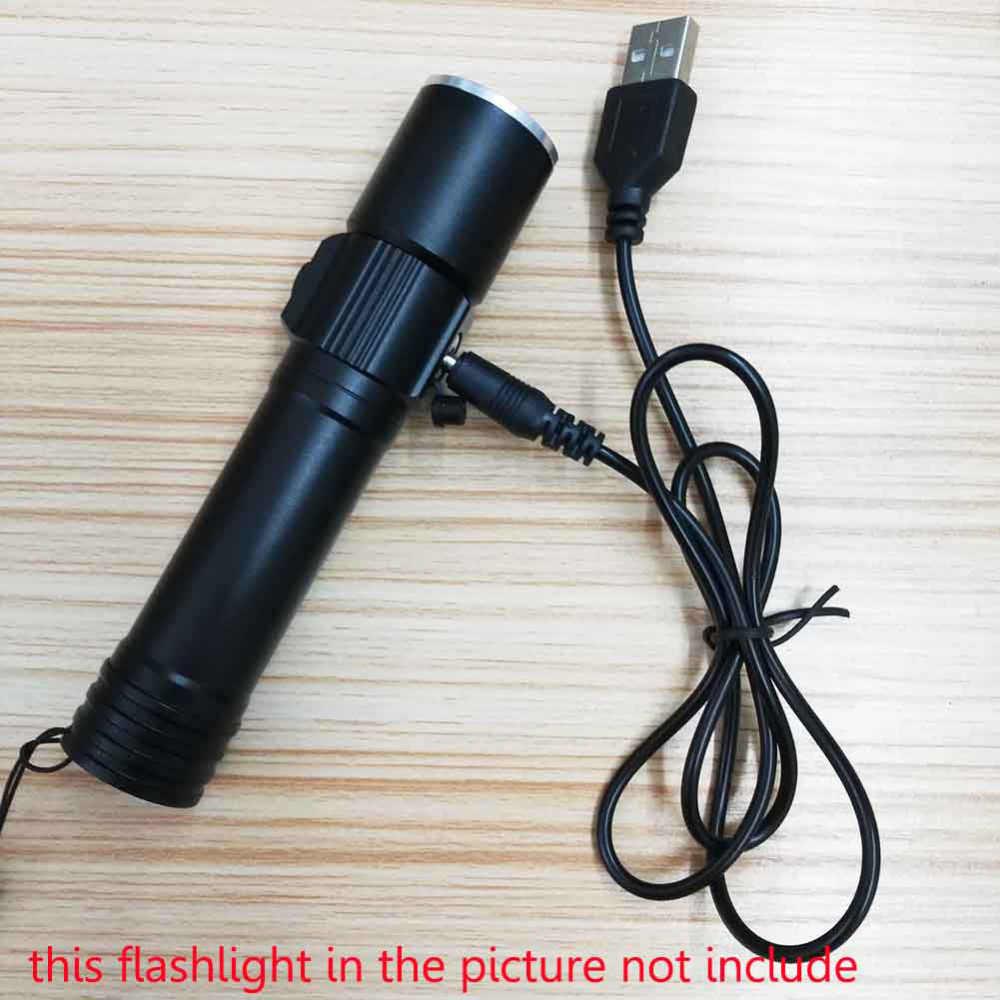 Cable de carga de 3,5mm USB DC Cable de carga para linterna 18650 batería recargable para linterna para cabeza
