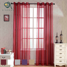 Sinogem Brand Solid Colors Stripe Sheer for the Bedroom Modern Curtains for Living Room Cortinas Sheer Window Screen Custom Made