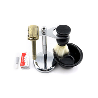 WEISHI Butterfly Safety Razor Long handle Silvery Gun color Bronze Double sided safety razor 1 SET/LOT NEW