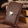 Homens Fanny Saco Da Cintura de Couro Genuíno Masculino bolsa de Viagem de alta Qualidade pacote Cinto Loops Hip Bum Bag Bolsas Carteira Bolsa de Telefone #003
