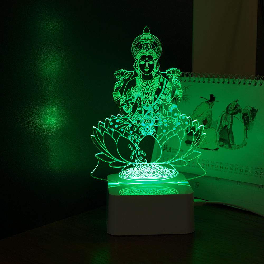 Aliexpresscom Buy India God Lakshmi 3D Night Light USB LED Desk