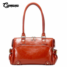 Luxury Handbags Women Bags Designer Chic Boston Genuine Leather Big Tote Bag Vintage Oil Wax Shoulder
