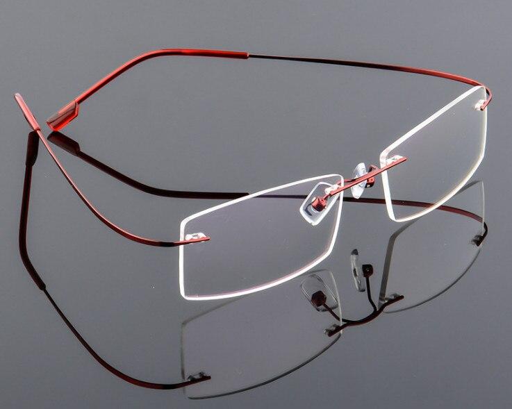 Nueva ultraligero sin montura marco óptico hombres mujeres aleación ...