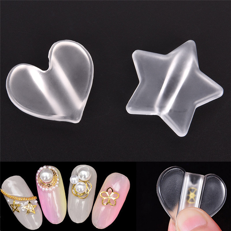 Beauty & Health Heart Shape Nail Metal Slice Sparkle Curve Mold Shaping Tool Clear Stick Stud Lamination Manicure Nail Art Tools Shrink-Proof