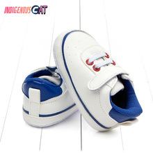 Infant Toddler Soft Sole Hook Loop Prewalker Sneakers Baby Boy Girl Crib Shoes Newborn 0 To 18M Soft Soled First Walking Shoes цена