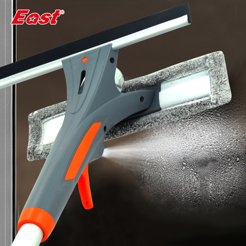 East Spray Window Cleaner Glass Cleaning Brush Glass Wiper Microfiber Cloth Muti-functional Window Cleaning Tools