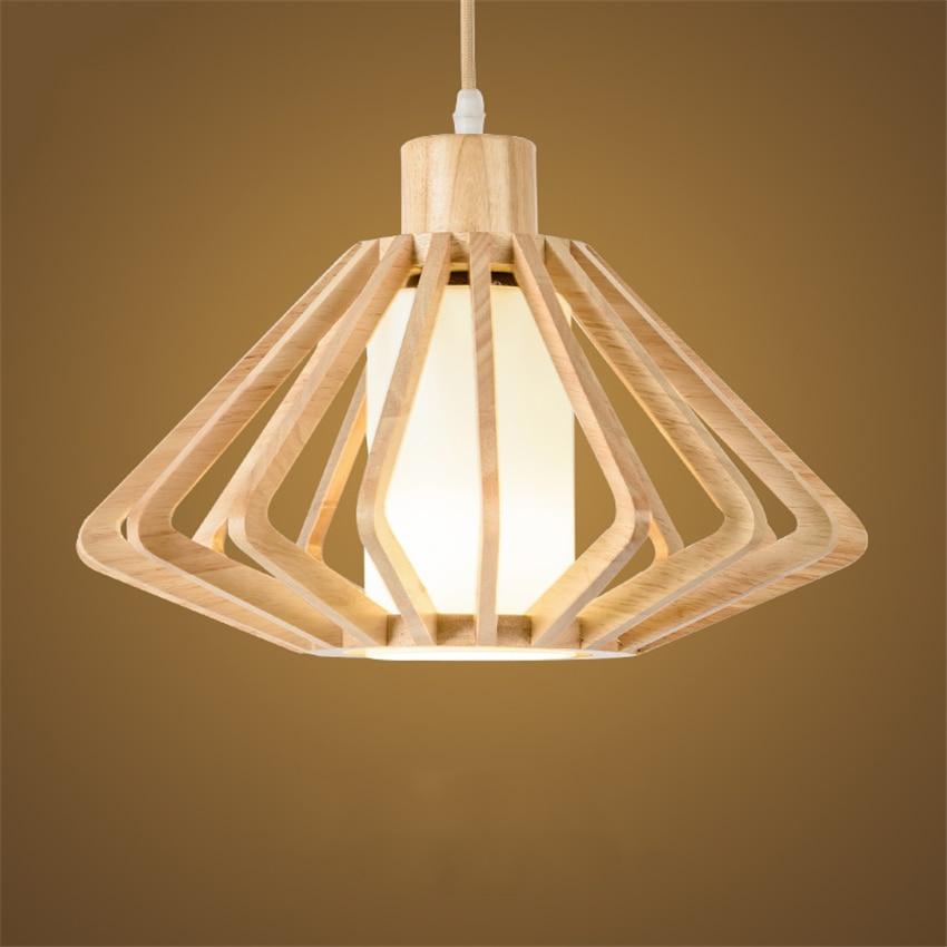 LED nordique plafonniers bois motif plafonniers cuisine salle à manger & Bar couloir chambre salon luminaires