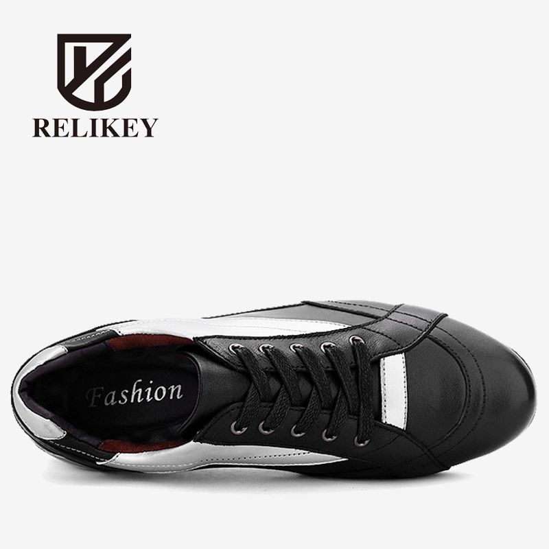 RELIKEY Brand Men Casual Handmade High Quality Genuine Leather Shoes,New Arrival Fashion Design Breathable Flats Men Shoes Soft 2016 new italy deluxe brand golden goose uomo donna casual ggdb fashion handmade original box shoes high quality eur 34 46