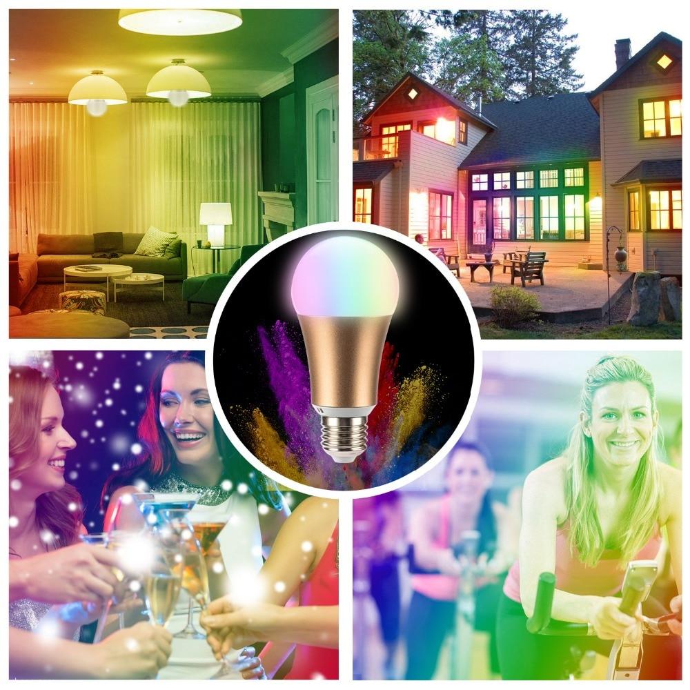 Купить с кэшбэком DIY Smart Bulbs E27 7W 110-240V Lampada LED Dimmable Wifi Bulb Lamp Remote Control Spot Light Indoor lighting by Phones APP