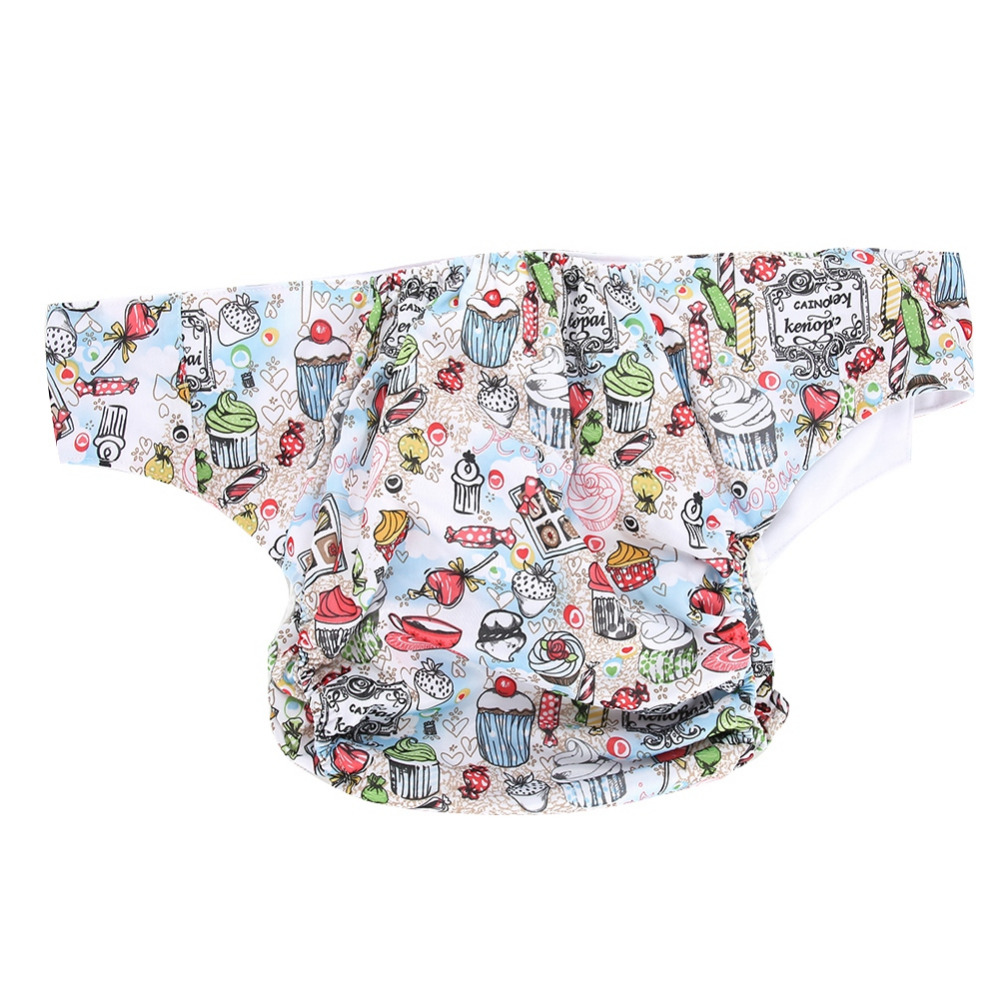 Brand New Reusable PU Adult Cloth Diaper Washable Breathable Adjustable Pocket Adult Diaper For Family Home