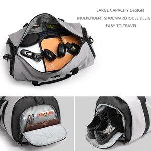 Image 4 - Ozuko男性旅行バッグ多機能大容量防水ダッフルバッグスーツ収納手荷物バッグ靴倉庫フィットネス