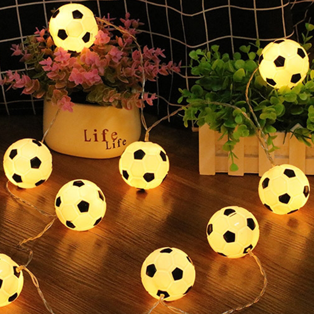 10 LED20 Led Fairy Football Bulb Battery Operated String Light For Christmas world cup Kid home LED Decoration Lamps
