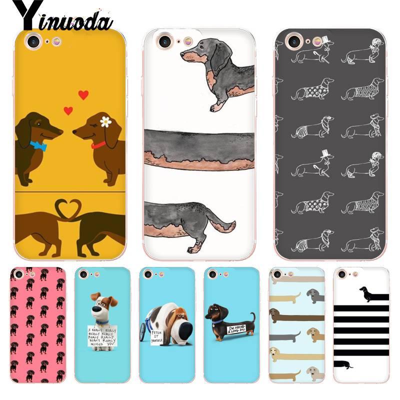 Yinuoda For iphone 7 6 X Case Long Dog Brief Dachshund Dog Phone Access