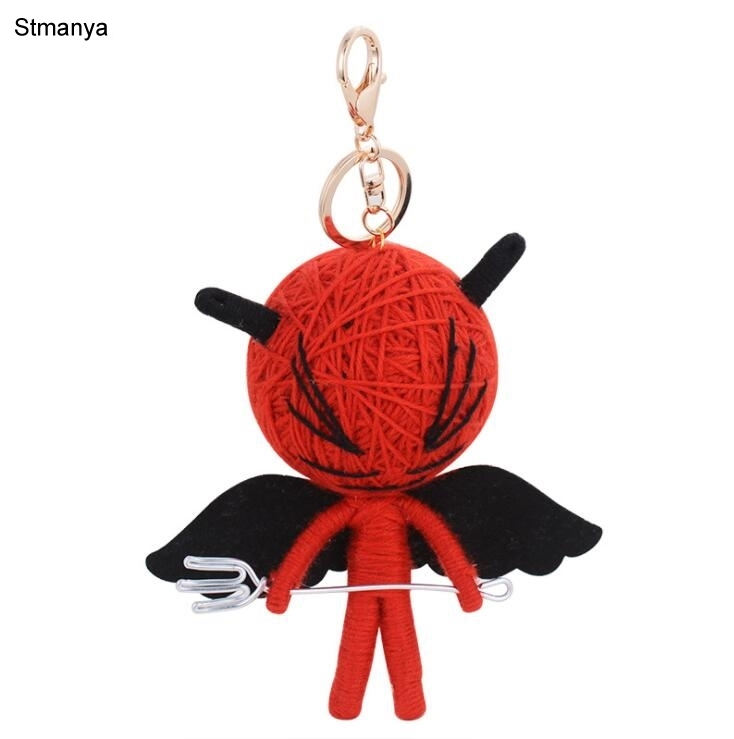 New Voodoo Doll Key Chain Fashion Men Car Key Ring Women Bag Charm Accessories Car Key Holder Party Gift Jewelry K1257