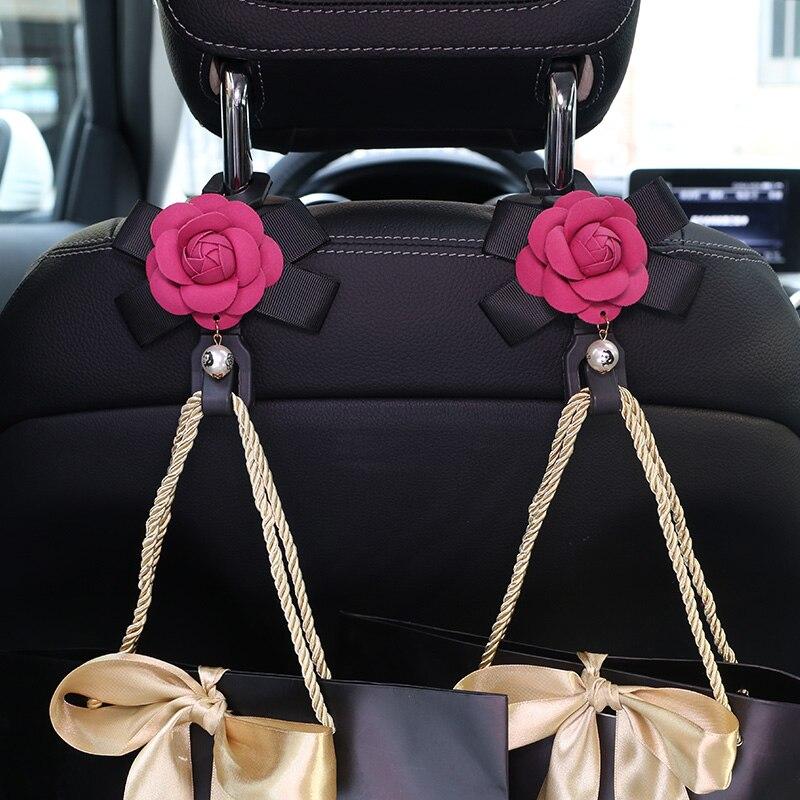 2tk / part Camellia lilled autoistme taga konksud riidepuude - Auto salongi tarvikud - Foto 2