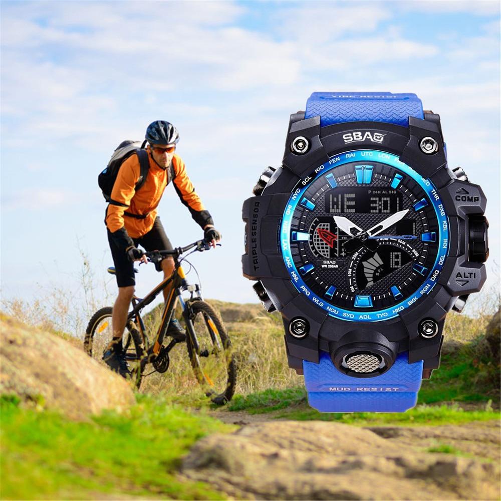 Watch Men Relogio Masculino Watch LED Men Waterproof Sports Watches Shock Digital Electronic Sports Watches #0907