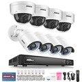 Annke profissional 1080 p poe câmera de segurança sistema de segurança 4ch nvr com 4x2 mp cctv câmeras dome, No HDD