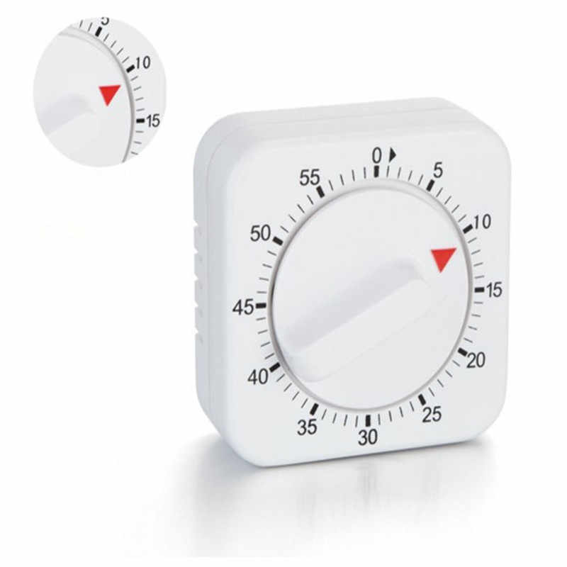 60 Minutes Kitchen Timer Count Down Alarm Reminder White Square Mechanical  Timer for Kitchen high quality M3
