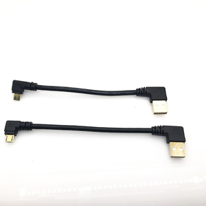 Image 5 - Gold plated 15CM short 90 Degree USB 2.0 to Micro USB B Male Cable Gold Plated Right Angle Data Sync and Charge Extender Lead