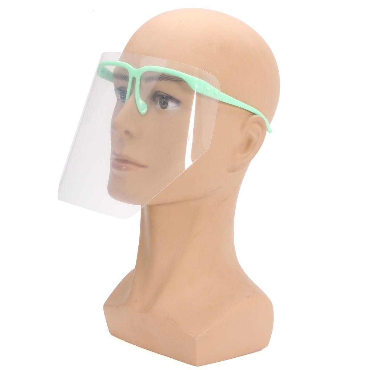 Dental Protective Mask Kit Adjustable Detachable 10 PCS Full Face Shield Visors + 1 Frame Anti-Fog Dustproof Dental Equipment anti fatigue metal full frame shield sunglasses