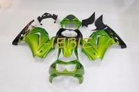 Green black Injection Fairing Body Work Frame Kit for Kawasaki NINJA 250R EX250 EX 250 R 2008 2009 2010 2011 2012