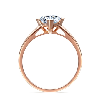 Round Brilliant Cut 5ct Lab Grown Diamond Solitaire Ring 14k Rose Gold Engagement Ring Moissanites Wedding Rings Size 4-10 2