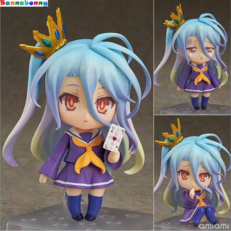 NO GAME NO LIFE Shiro Q version anime action Figure PVC New Collection figures toys Collection for Christmas gift action game cartridge alcahest english language usa version