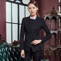 2017 Summer Fashion Slim Classic Elegant Ladies Office OL Jacket Set Official Pioneer Pants Suit