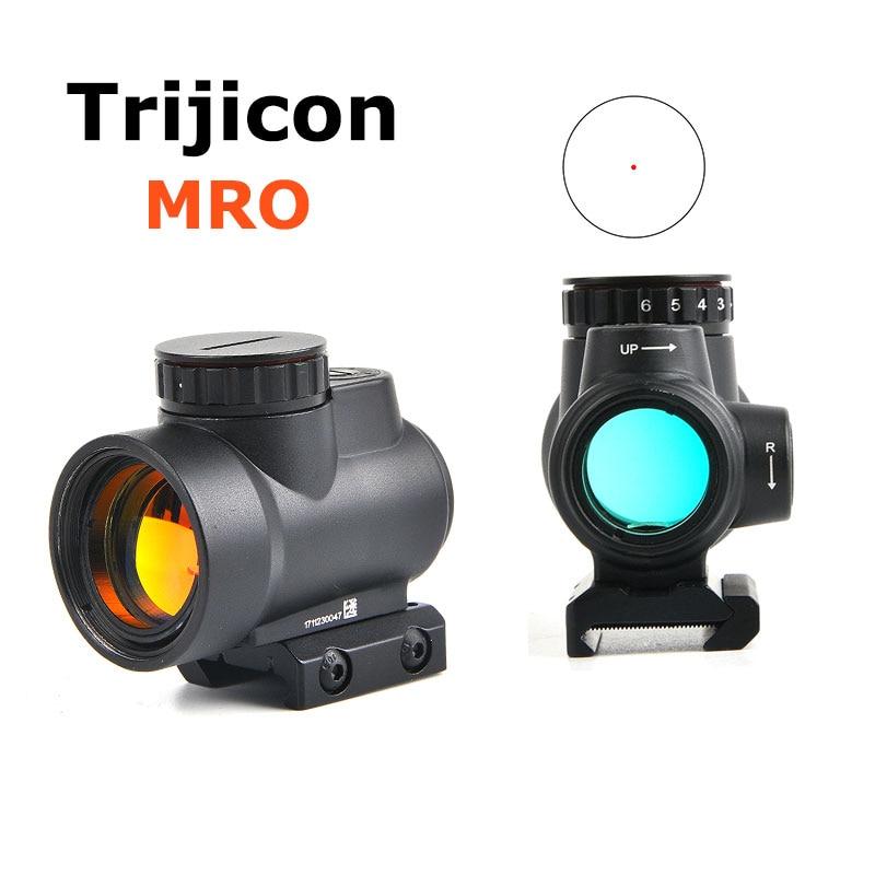 Trijicon МРО голографический прицел Красный точка зрения оптический прицел тактический Шестерни страйкбола с 20 мм Сфера горе для охоты Снайпер...