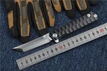 folding knife D2 blade tactical knife titanium handle Top quality outdoor hand tool EDC ball bearing Flipper pocket knife