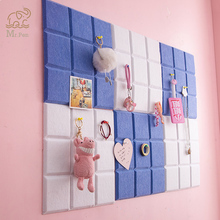 3pcs Candy Color Felt Letter Board Message Board Home Office Decor Photo Display Board Wall Decoration Business Card Display
