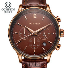 OCHSTIN Montre Homme Mens Watches Men Military Sport Leather Quartz Watch Relogio Masculino 2017 Chinese Wrist Watch G Brand