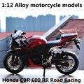 1:12 Aleación De modelos de motocicletas, alta simulación juguetes de metal del bastidor de la motocicleta, honda cbr 600 rr carreras de carretera, envío libre