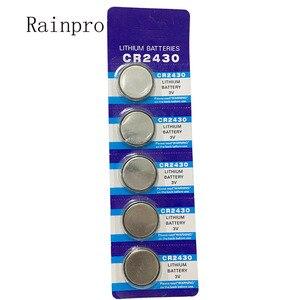 Image 1 - Rainpro 5 pz/lotto CR2430 2430 delle cellule della moneta 3V batteria al litio per il controllo remoto/contatore elettronico, ecc.